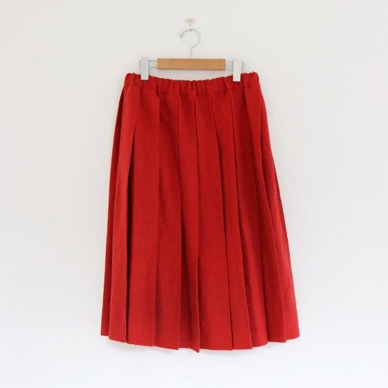 Charpentier de Vaisseau | リネンプリーツスカート〈 Belle 〉Red | C003201PS384