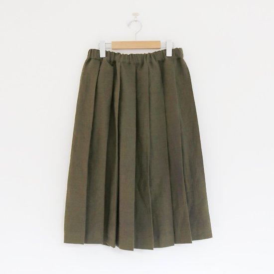 Charpentier de Vaisseau | リネンプリーツスカート〈 Belle 〉Olive | C003201PS384