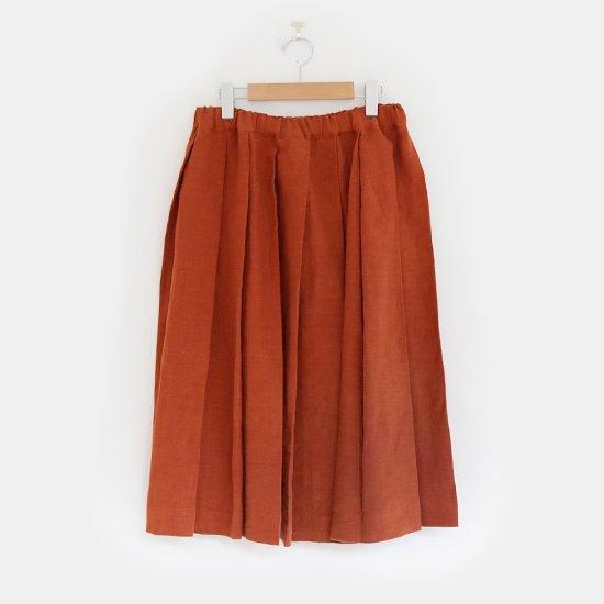 Charpentier de Vaisseau | リネンプリーツスカート〈 Belle 〉Brown | C003201PS384