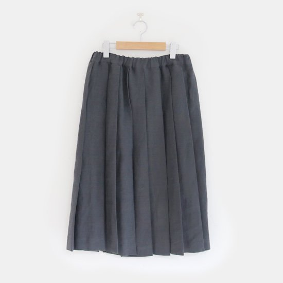 Charpentier de Vaisseau | リネンプリーツスカート〈 Belle 〉Dark Grey | C003201PS384