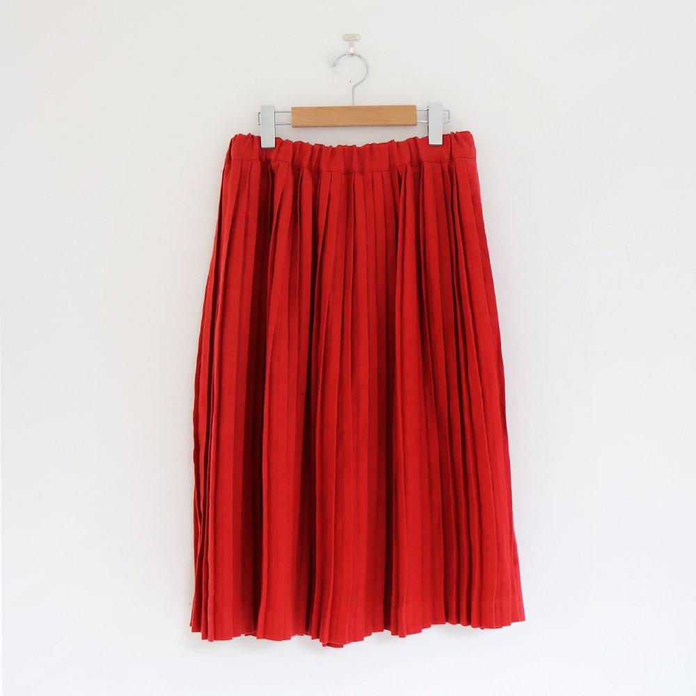 Charpentier de Vaisseau | リネンナロープリーツスカート〈 Brenda 〉Red | C003201PS385