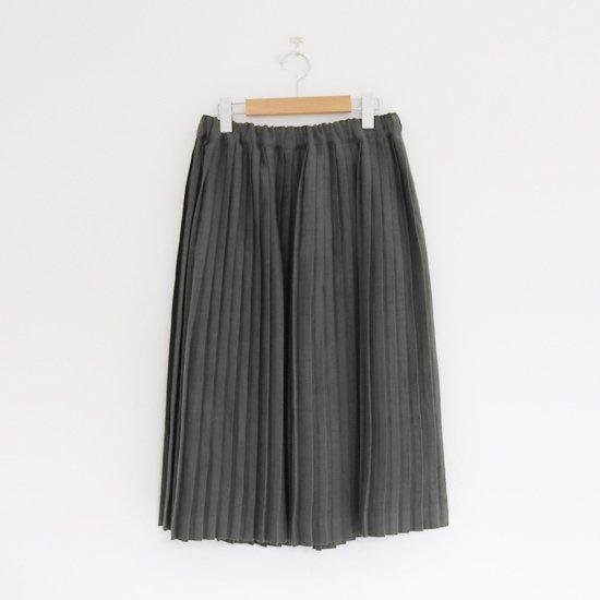 Charpentier de Vaisseau | リネンナロープリーツスカート〈 Brenda 〉Dark Grey | C003201PS385