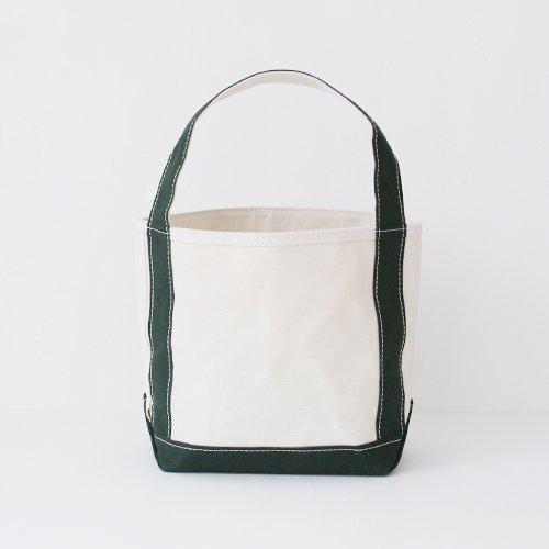 Tembea x haus | ミディアムジップトート  Natural × Dark Green | F021201BB307