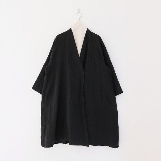 Atelier d'antan | リネンノーカラーコート〈 Valery 〉Black | A232211TC487