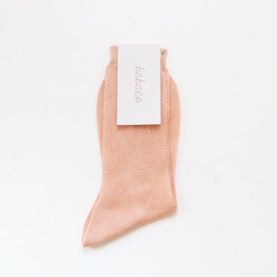 Babaco | シルクコットンリブソックス Pink | F048211FS081