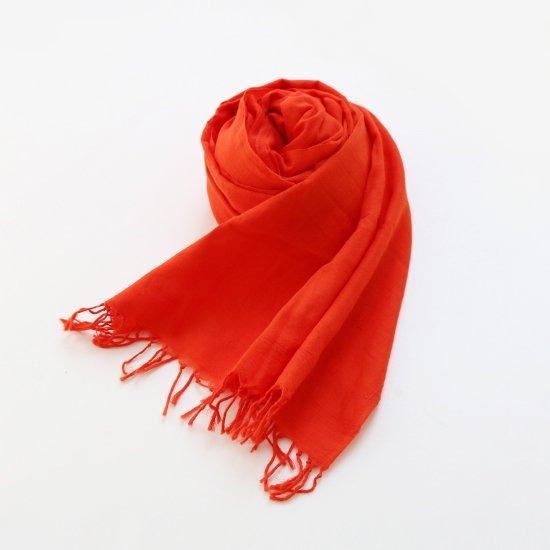 Khadi and Co. | コットンストール Orange | D012201FM025