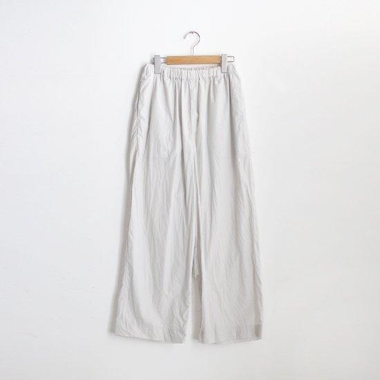 ゴーシュ | 100/1タイプライターワイドパンツ Light Grey | F019211PP449