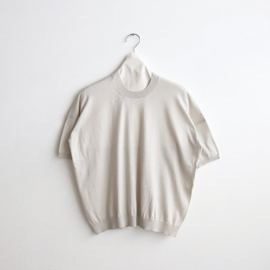 Atelier d'antan | ハイゲージコットンニット〈 Ruben 〉Light Grey | A232211TK505