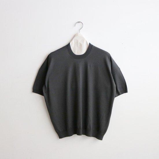 Atelier d'antan | ハイゲージコットンニット〈 Ruben 〉Dark Grey | A232211TK505