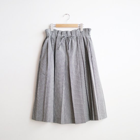 Atelier d'antan | シアサッカースカート〈 Ehren 〉 White × Black Check | A232211PS507