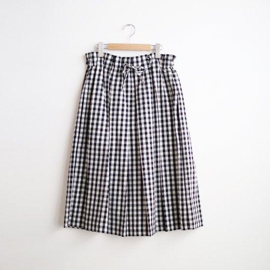 Atelier d'antan | シアサッカースカート〈 Ehren 〉Black × White Check | A232211PS507