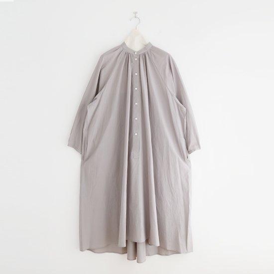 Atelier d'antan | ライトコットンギャザーシャツドレス〈 Cuvier 〉 Grey | A232211TD502