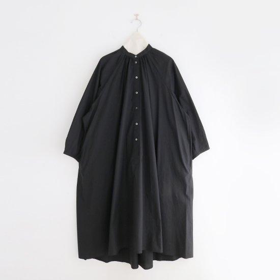 Atelier d'antan | ライトコットンギャザーシャツドレス 〈 Cuvier 〉 Black | A232211TD502