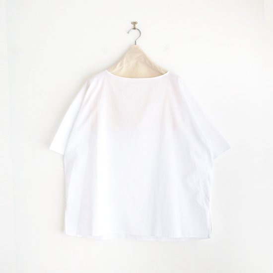 Atelier d'antan | ライトコットンプルオーバーブラウス〈 Carrel 〉White | A232211TS500