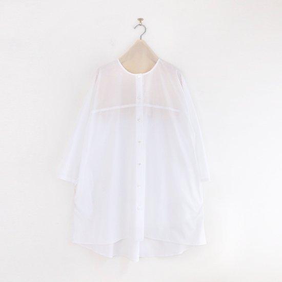 Atelier d'antan | ライトコットンロングシャツ〈 Seton 〉White | A232211TS501