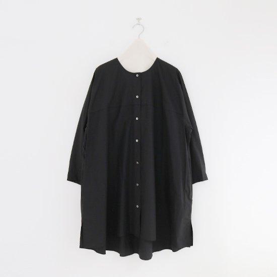 Atelier d'antan | ライトコットンロングシャツ〈 Seton 〉Black | A232211TS501