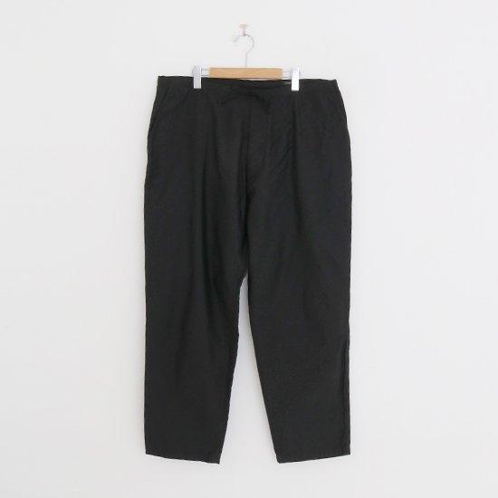 Comoli | コットンサテンドローストリングパンツ Black | F035211PP149