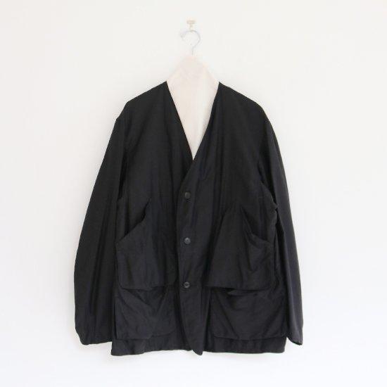 Comoli | コットンサテンハンティングジャケット Black | F035211TJ148