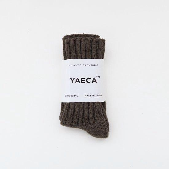 YAECA | シルクコットンリブソックス Brown | F052211FS156