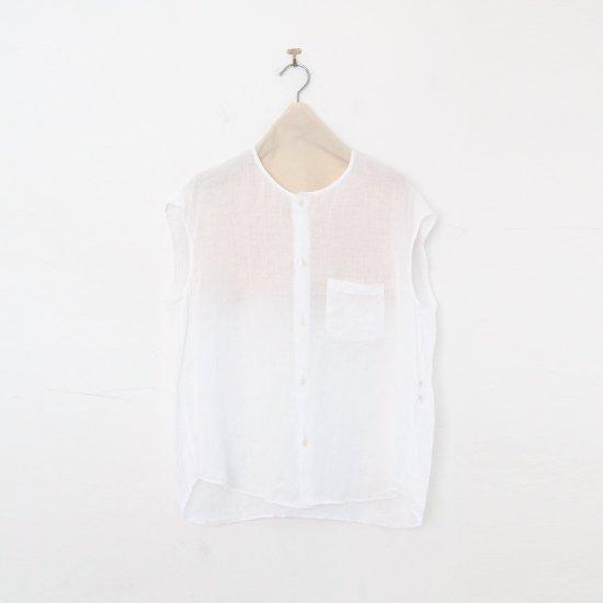 ゴーシュ | 80/1リネンフレンチスリーブシャツ White | F019211TS460