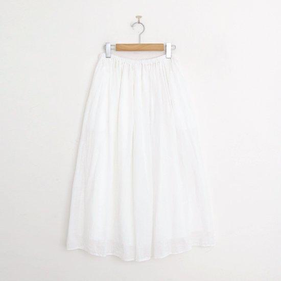 ゴーシュ | 80/1リネンスカート White | F019211PS459
