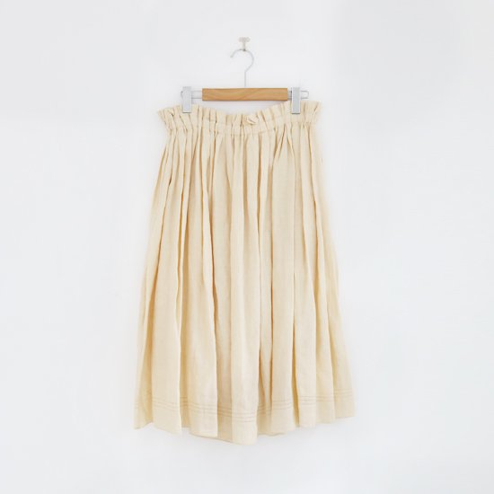 Atelier d'antan | リネンギャザースカート〈 Nordal 〉Natural | A232201PS403