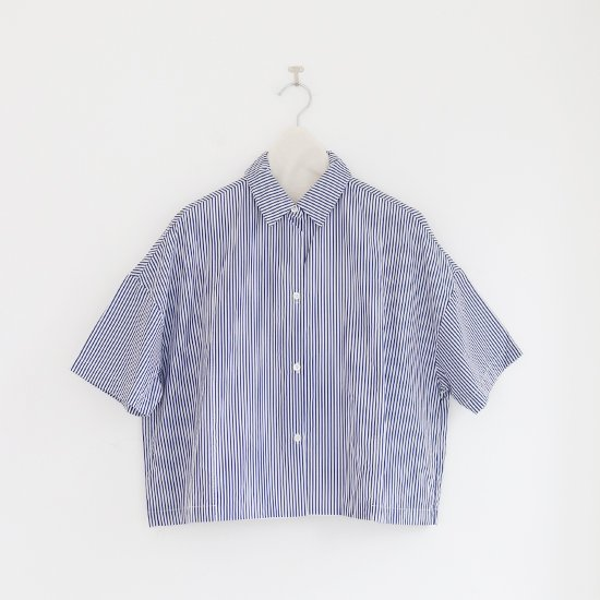 Gallego Desportes   オーバーサイズドシャツ Blue Stripe   D001211TS215