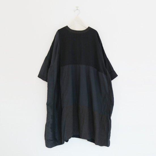 Aodress   パッチワークワンピース Black   D115211TD009