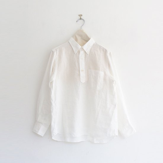 Charpentier de Vaisseau   リネンプルオーバーシャツ〈 Steven 〉White   C003211TS429