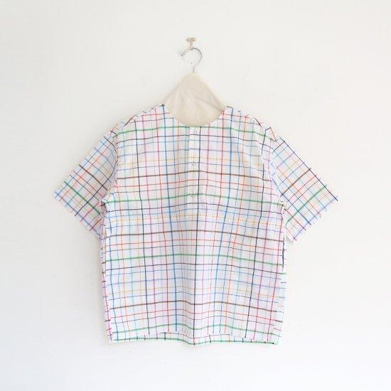 Charpentier de Vaisseau   3リングボタンシャツ〈 Selma 〉White Multi   C003211TS432