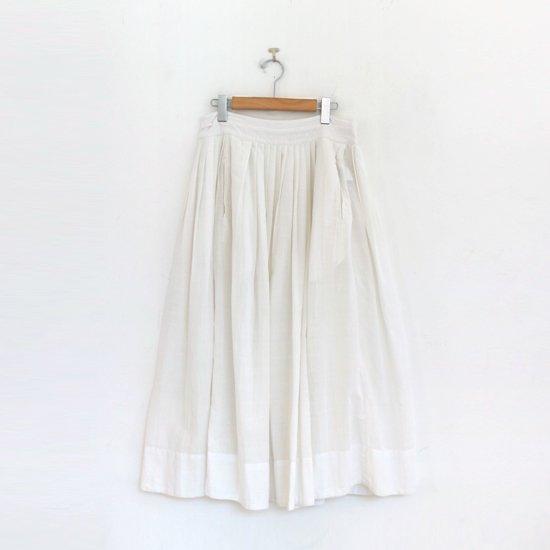 Khadi and Co. | アンドラプレインギャザースカート〈 VIOLET 〉White | D012211PS349