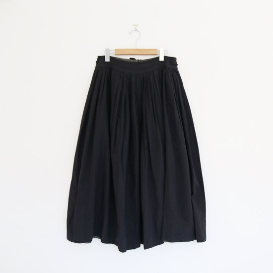 Khadi and Co. | アンドラプレインギャザースカート〈 VIOLET 〉Black | D012211PS349