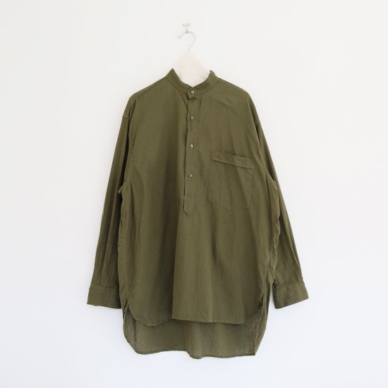 Comoli   ベタシャンプルオーバーシャツ Olive   F035211TS153