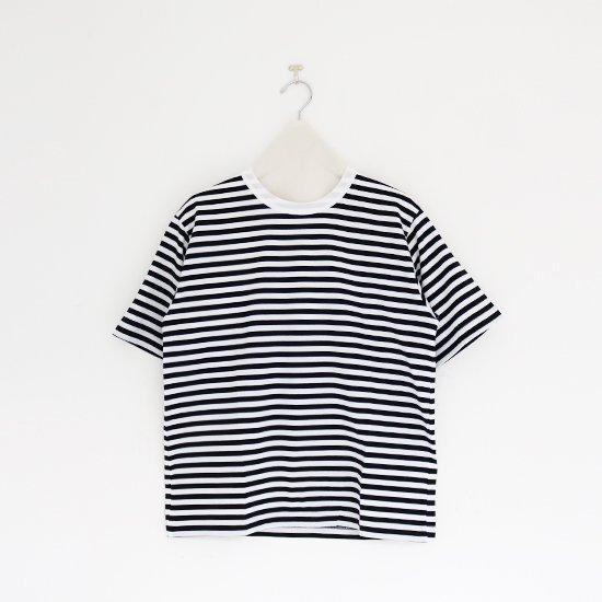 Charpentier de Vaisseau   クルーネックボーダーTシャツ〈 Jess 〉White × Black   C003211TT473