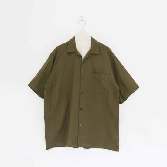 Comoli   ベタシャンオープンカラーシャツ Olive   F035211TS155
