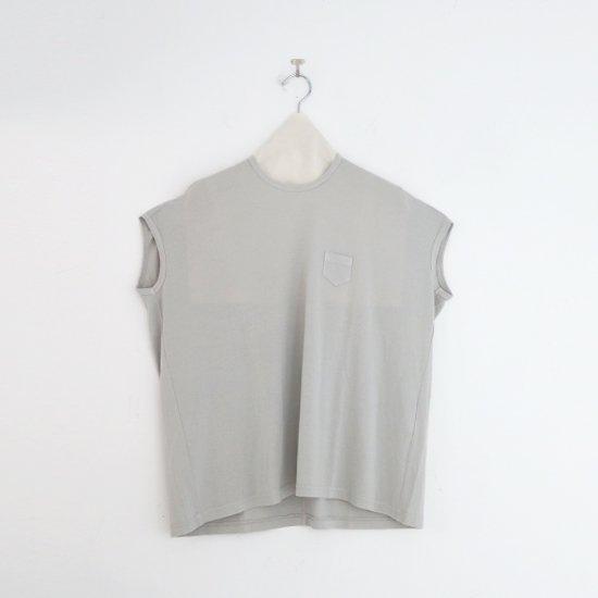 ゴーシュ | 100/2ワイドフレンチスリーブカットソー Light Grey | F019211TT457