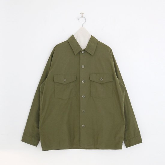 Yaeca   メンズベイカーシャツ Olive   F052191TS104