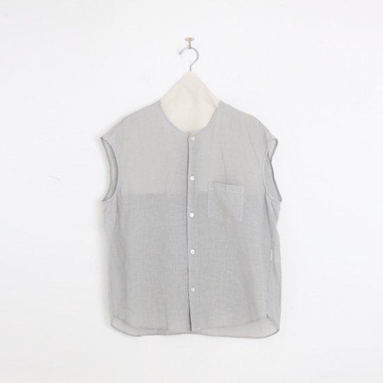 ゴーシュ | 80/1リネンフレンチスリーブシャツ Light Grey | F019211TS460