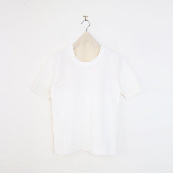 Charpentier de Vaisseau   UネックリブTシャツ〈 Jeff 〉White   C0031211TT470