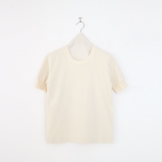 Charpentier de Vaisseau   UネックリブTシャツ〈 Jeff 〉Natural   C0031211TT470