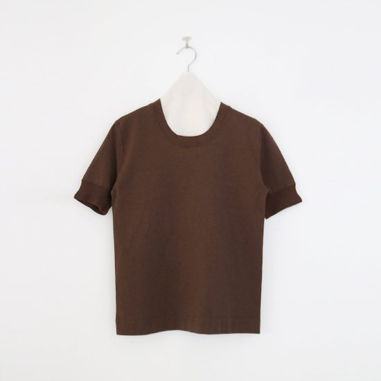 Charpentier de Vaisseau   UネックリブTシャツ〈 Jeff 〉Brown   C0031211TT470