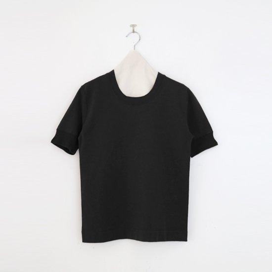 Charpentier de Vaisseau   UネックリブTシャツ〈 Jeff 〉Black   C0031211TT470