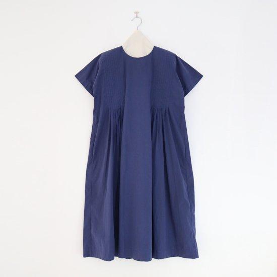 Atelier d'antan | タックドレス〈 Villon 〉Navy | A232181TD322