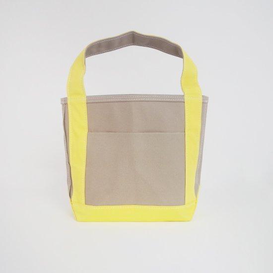 <img class='new_mark_img1' src='https://img.shop-pro.jp/img/new/icons3.gif' style='border:none;display:inline;margin:0px;padding:0px;width:auto;' />Tembea × haus | ショートジップトートポケット Grey × Yellow | F021211BB428