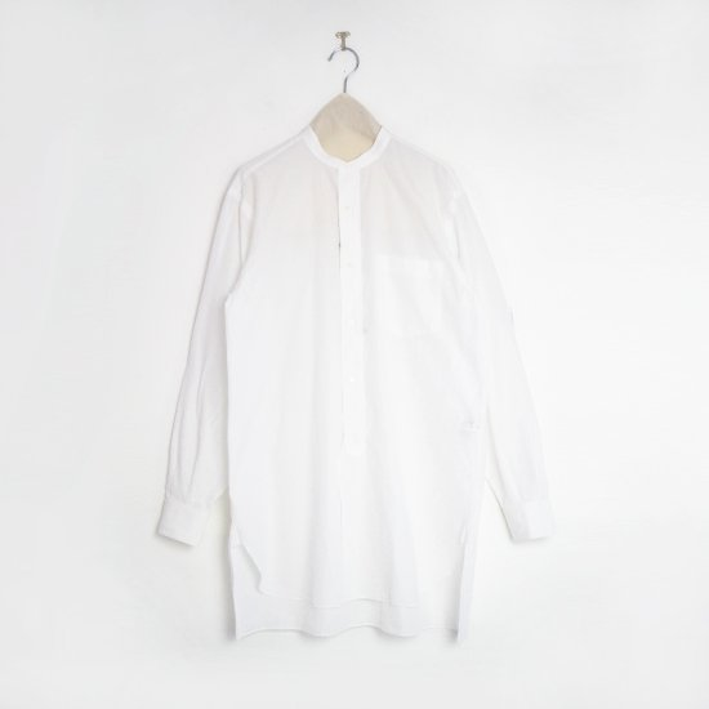 Comoli | バンドカラーシャツ White | F035212TS157
