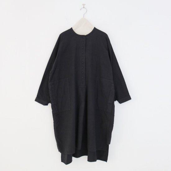 Atelier d'antan | カディコットンロングブラウス〈 Vau 〉Black | A232212TS526