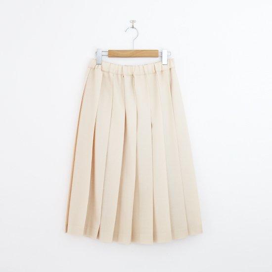 Charpentier de Vaisseau | ミルドサージプリーツスカート〈 Belle 〉Natural | C003162PS087