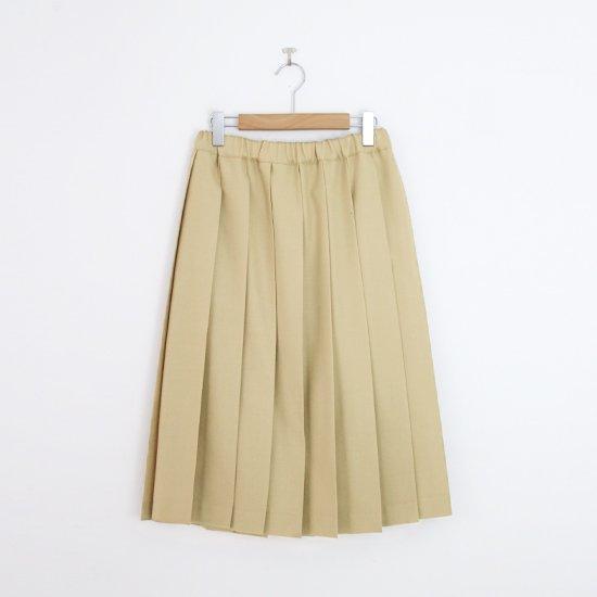 Charpentier de Vaisseau | ミルドサージプリーツスカート〈 Belle 〉Beige | C003162PS087