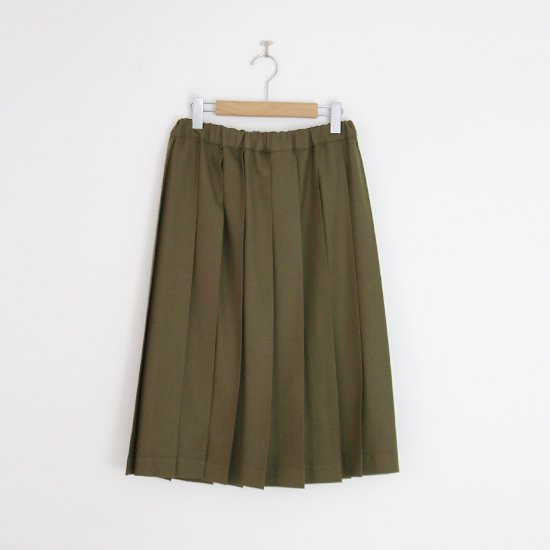 Charpentier de Vaisseau | ミルドサージプリーツスカート〈 Belle 〉Khaki | C003162PS087