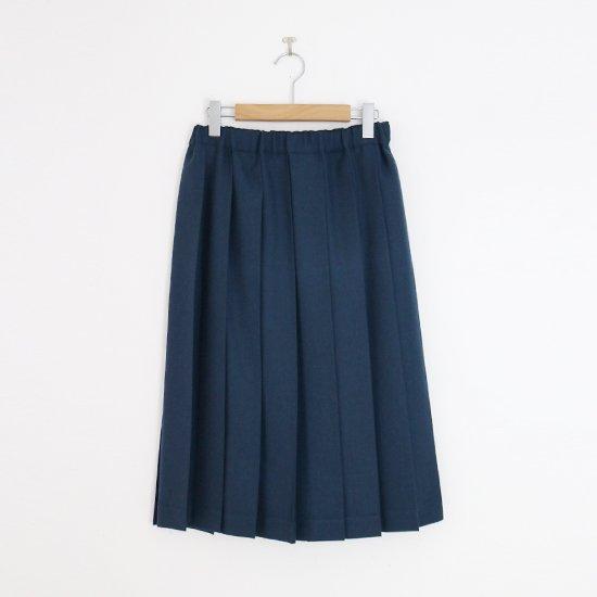 Charpentier de Vaisseau | ミルドサージプリーツスカート〈 Belle 〉Dark Blue | C003162PS087